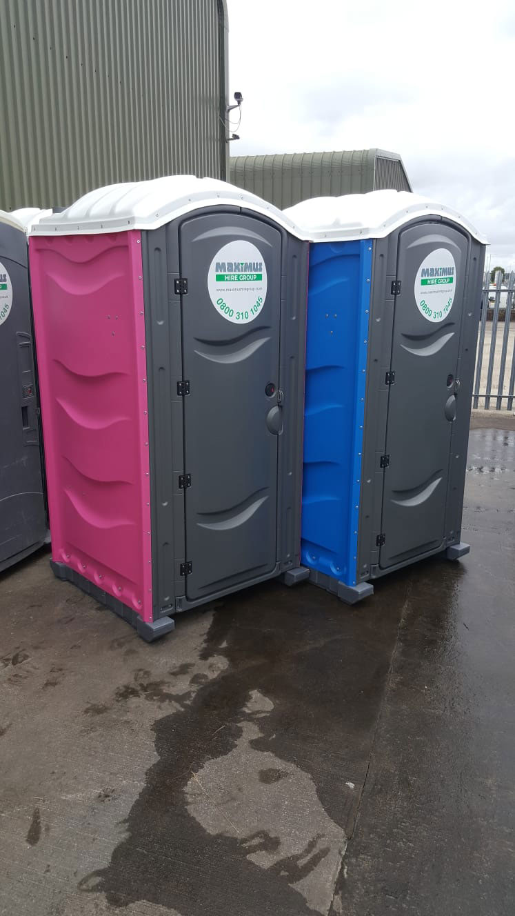 male and female portable loos